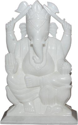 Buy Pooja Creation White Marble Lord Statue Ganesh Idol For Home