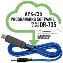 RT Systems APK-735 Programming Software and USB-29A Cable for The Alinco DR-735