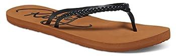 Roxy Women's Cabo Flip Flop, Blackbrown, 8 M Us 0