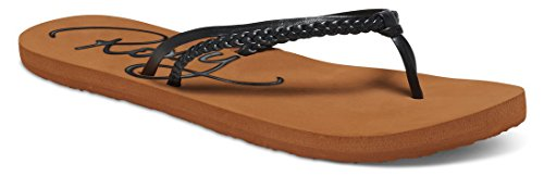 Roxy Women's Cabo Flip Flop, Black/Brown, 9 M US