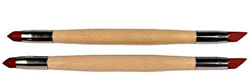 Creative Hobbies Paint Eraser Squeegee, Precision Paint Eraser Stick Tool, Moist Clay Shaper, Pack of 2