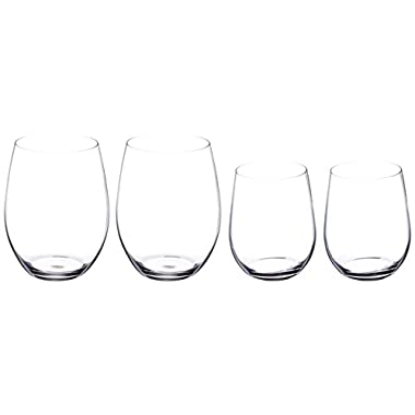 Riedel O Wine Tumbler Cabernet/Merlot and Viognier/Chardonnay, Set of 4