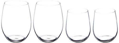 Riedel O Wine Tumbler Cabernet/Merlot and Viognier/Chardonnay, Set of 4