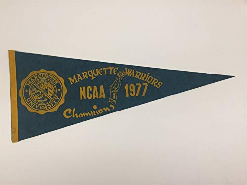 Vintage 1977 Marquette Warriors NCAA Basketball Champs Pennant 30x12