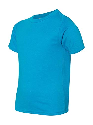 (Next Level Big Boy's Crewneck Shrinkage Gorgeous T-Shirt, X-Small, Turquoise )