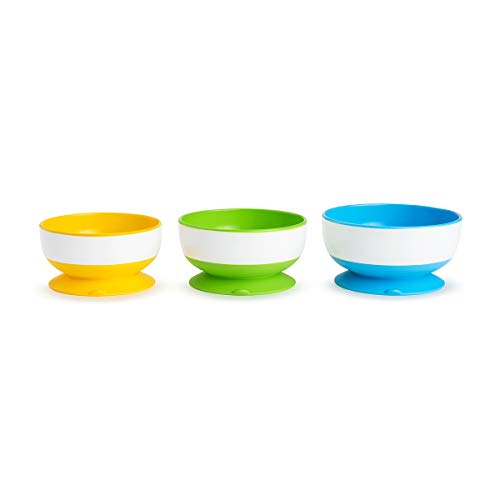 Munchkin Stay Put Suction Bowl, 3 Count from Munchkin
