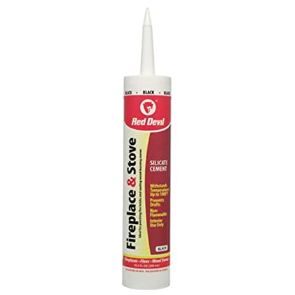 Fabulous Red Devil 0466 Fireplace Stove Repair Sealant Black Home Remodeling Inspirations Propsscottssportslandcom