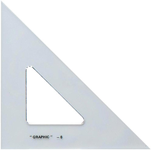 Alvin S1450-10 45-Degree/90-Degree 10'' Academic Transparent Triangle