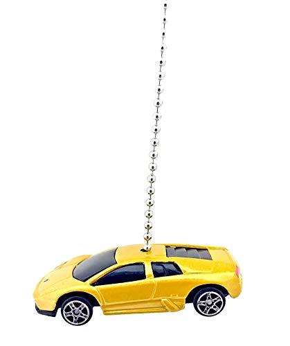 (Maisto Compatible Lamborghini Diecast Ceiling Fan Light Pulls 1:64 Scale (Lamborghini Murcielago - Yellow))