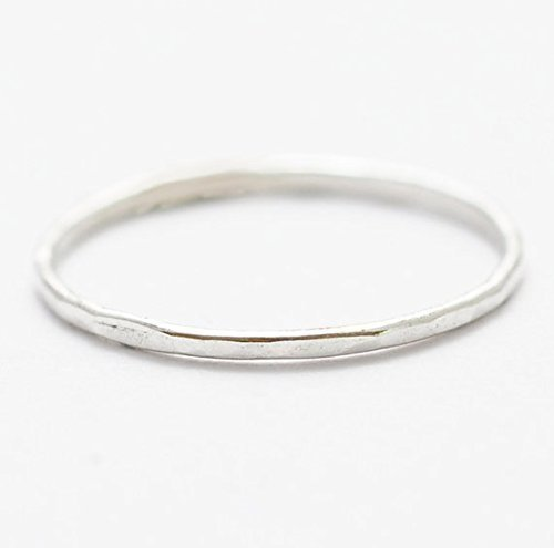 8aa88536843 Image Unavailable. Image not available for. Color: Sterling Silver Ring:  Hammered Simple Jewelry