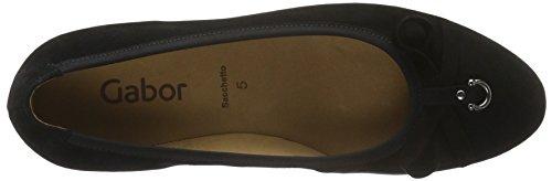 17 para de Negro Tacón Shoes Gabor Schwarz Mujer Zapatos Basic BwzzqP
