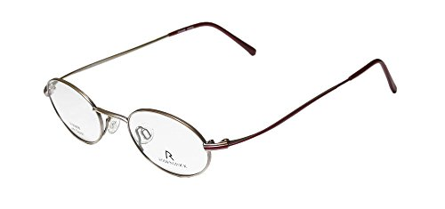 Rodenstock R4229 Mens/Womens Ophthalmic Collectible Oval Full-rim Eyeglasses/Glasses (45-20-145, Matte Gold / (Zoot Suit Costume Tie)