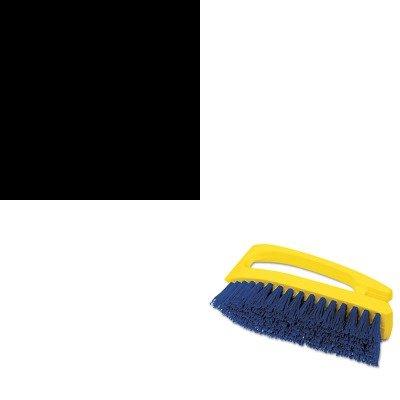 KITCPM14278EARCP6482COB - Value Kit - Ajax Oxygen Bleach Powder Cleanser (CPM14278EA) and Iron-Shaped Handle Scrub Brush, 6quot; Brush, White Plastic Handle/Blue Bristles (RCP6482COB) ()