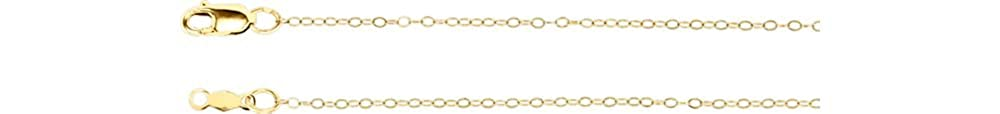 Jewels By Lux 14K Yellow Gold 1mm Curb 18 Chain