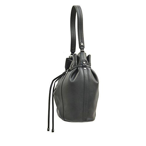 Mayoría cubo Línea De Cuero Lancel La Negro Color FqI5wxdEx
