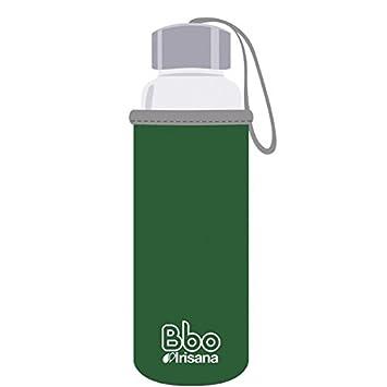 Irisana Botella Reutilizable de borosilicato de 500 ML, con Funda de Neopreno. Bbo5 (