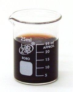 SEOH Beaker Borosilicate Glass Low Form Graduated 25ml Pack of 10
