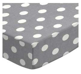 SheetWorld Fitted Pack N Play (Graco Square Playard) Sheet - Polka Dots Grey - Made In USA