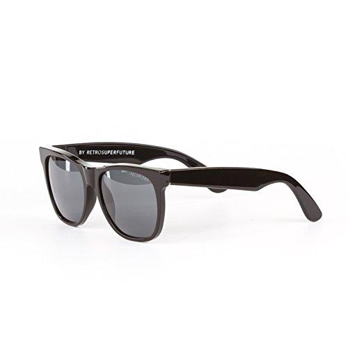 Retrosuperfuture Classic Polarized Black Fashion Sunglasses - Retrosuperfuture Sunglasses Super