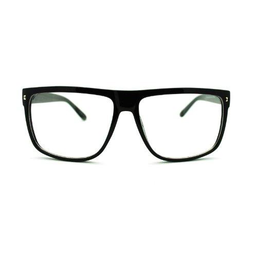 80s Normcore Nerdy Geek Large Thin Plastic Frame Eye Glasses - Glasses 80s Frames