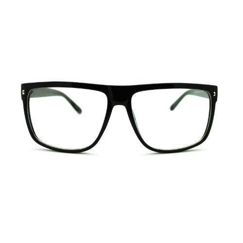 80s Normcore Nerdy Geek Large Thin Plastic Frame Eye Glasses - Frames Big Optical