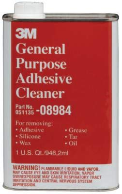 3M General Purpose Adhesive Cleaner, Quart, 08984