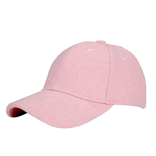 FEDULK Womens Solid Baseball Cap Classic Retro Adjustable Fastner Sports Outdoor Casual Hat(Pink, One Size) (Blades Refill Twist Trimmer)