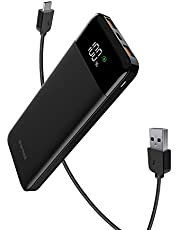 Charmast 18W PD Power Bank,10400mAh Power Delivery Portable Charger , USB C Led Display Battery Pack with Quick Charge 3.0 Compatible with IPhone, Samsung, Google Pixel 2, Samsung Galaxy S8 / S8 Plus,Huawei,Tablets, More