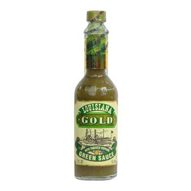 Louisiana Gold Green Sauce with Tobasco Peppers 2oz (pack of 3) - Louisiana Gold Red Pepper