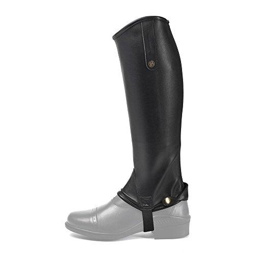 Brogini Unisex Adults Leather Treviso Tall Gaiters Black Nb6gy