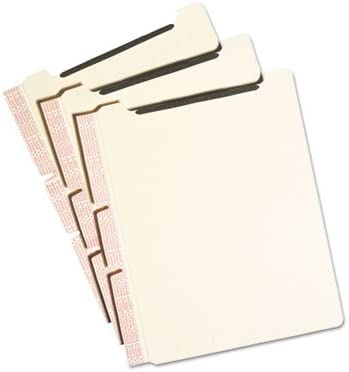2-Sect 25//Pack Manila Self-Adhesive Folder Dividers w//2-Prong Fastener Letter