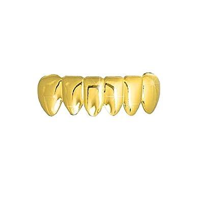 Amazon.com  Gold-Tone Bottom Row Hip Hop Bling Grillz Removable Teeth   Jewelry ef542ca94b