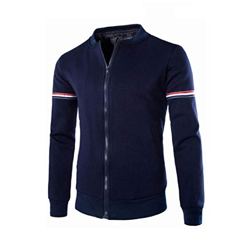 (Muranba Clearance Men Cotton Stand Collar Casual Coat Jacket)