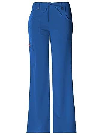 Dickies 'Drawstring Flare Leg Pant' Scrub Bottoms Royal XX-Small Petite