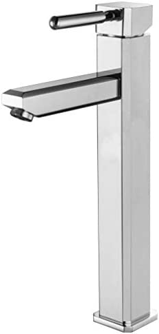 CHENBIN-BB バスルームのシンクは、スロット付き浴室の洗面台のシンクホットコールドタップミキサー流域の真鍮シンクミキサータップ全銅スクエアシングルホール手洗い盆地カウンターホットとコールド流域ミキサーを高めタップ