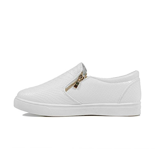 ginnastica delle Avec Blanc motivo Fermeture Bianco da piatti da dimensione Faux Skater infilare scarpe Plates Scarpe Donne Croc in tela ZSpFqwf4