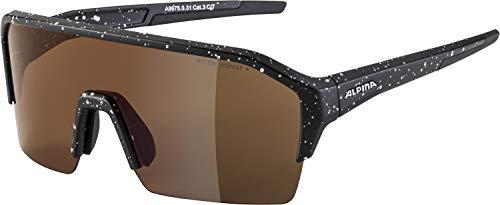 ALPINA RAM HR Q-LITE sportbril voor volwassenen, zwart blauw mat, één maat