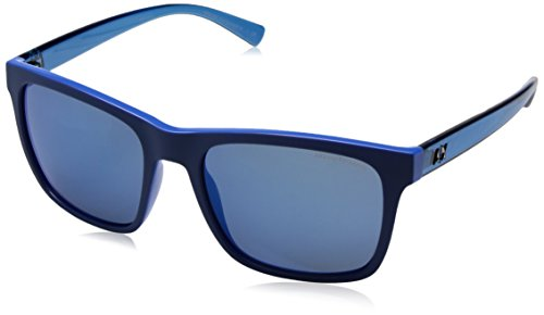 Armani Exchange Men's Injected Man Non-Polarized Iridium Square Sunglasses, Electric Blue/Top Matte Blue, 57 - Ar Armani Emporio