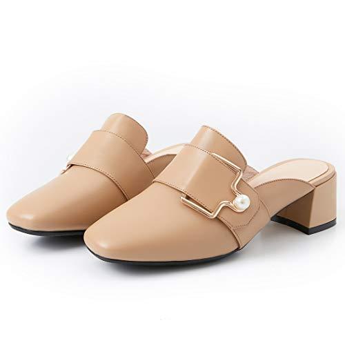 Annieshoe eleganti da eleganti donna scarpe Sandali medio marrone estate qCqRTxpr