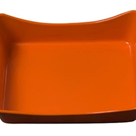 Rachael Ray Stoneware 9-Inch by 13-Inch Rectangular Lasagna Lover Pan Red 55052