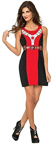 (Rubie's Costume Co Women's Marvel Classic Deadpool Costume Tank Dress, Black,)