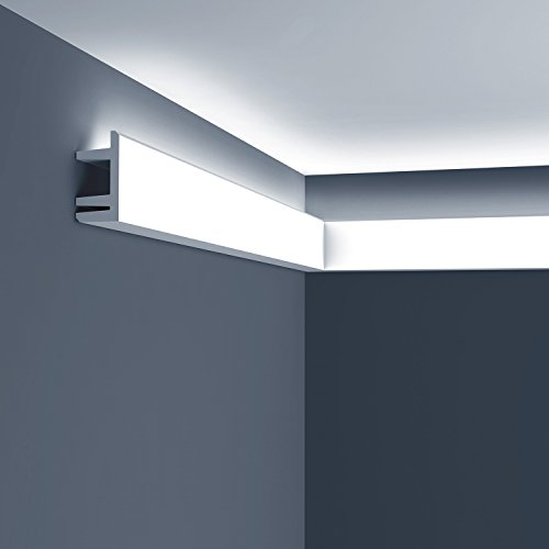 Cornice moulding Orac Decor C381 MODERN L3 Moulding for indirect lighting Decorative moulding modern white - C381