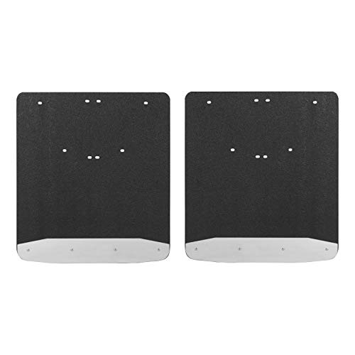 LUVERNE 250334 Rear Dually Textured Rubber Mud Guards Black 20-Inch x 23-Inch Select Dodge Ram 3500