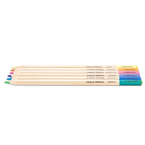 U Brands Chalkboard Colored Pencils, Assorted Colors, 6-Count by U Brands (Image #1)