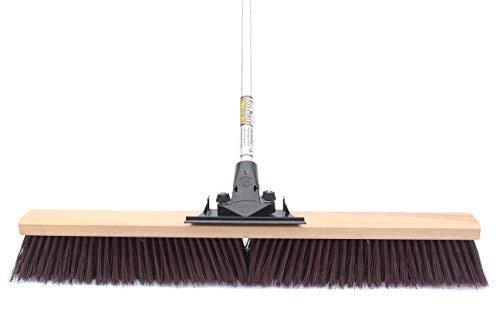 FlexSweep Flex-Power Unbreakable Heavy-Duty Push Broom (30'' Coarse) by FlexSweep