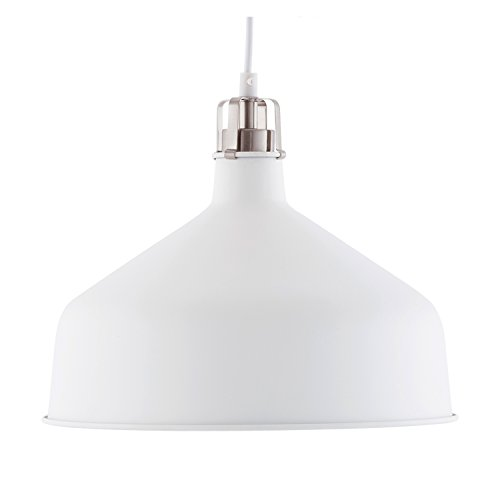 Light Society Banbury Pendant Light, Matte White Shade with Brushed Nickel Finish, Modern Industrial Farmhouse Lighting Fixture (LS-C167-WHI) Review