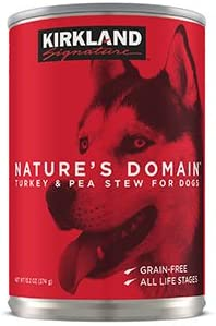 Nature s Domain Turkey Pea Stew Dog Food, Grain Free – 24 Cans 13.2oz Special Bonus