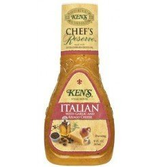 Ken's Chef's Reserve Italian Dressing with Garlic And Asiago Cheese - 9OZ - Pack Of 6 by - Reserve Italian