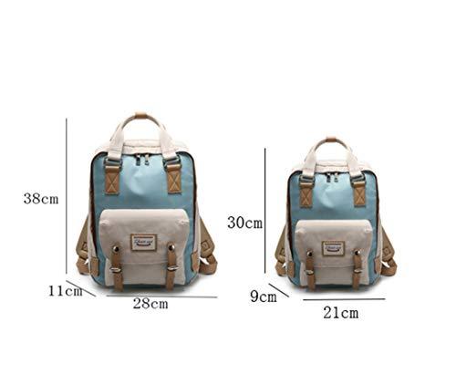 Mujeres Escolares Azul Gran Tipo Viajes Mochilas Diario Salvaje Resistente Outdoor Bolsas 2 Backpack Capacidad Para Multifuncional Casual Nailon Xiuy adq6TwpCq