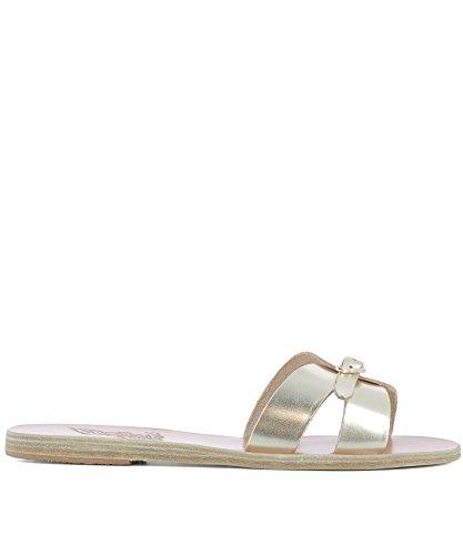 ANNAVACCHETTAPLATINUM Gold Sandals Greek Leather Women's Ancient Sandals nWx4qwq